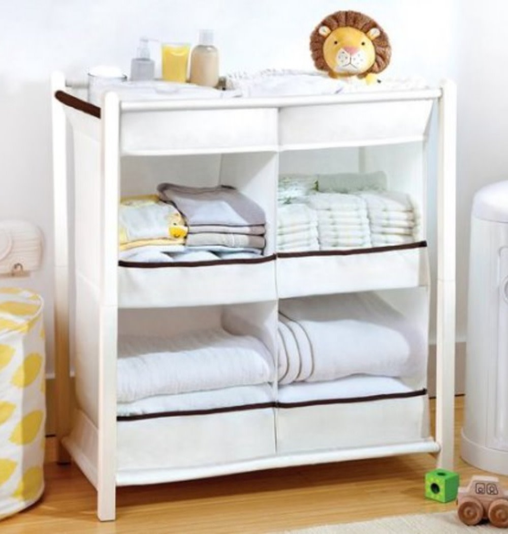 For the nursery closet since it's small - helps keep things organized and visible so they're easy to find.