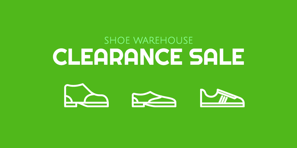 Shoe warehouse sale
