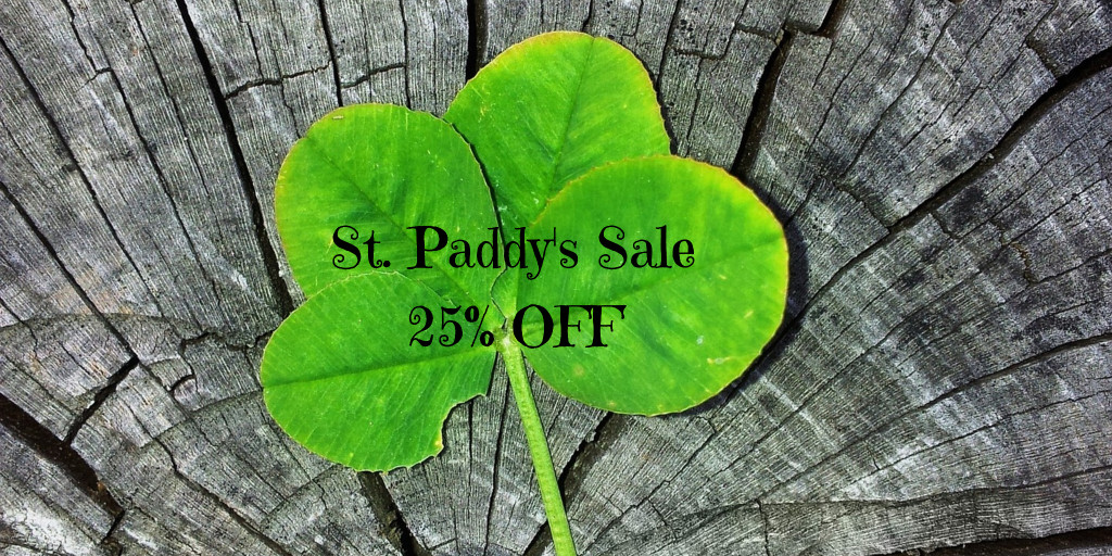 St. Paddy's sale 25% off