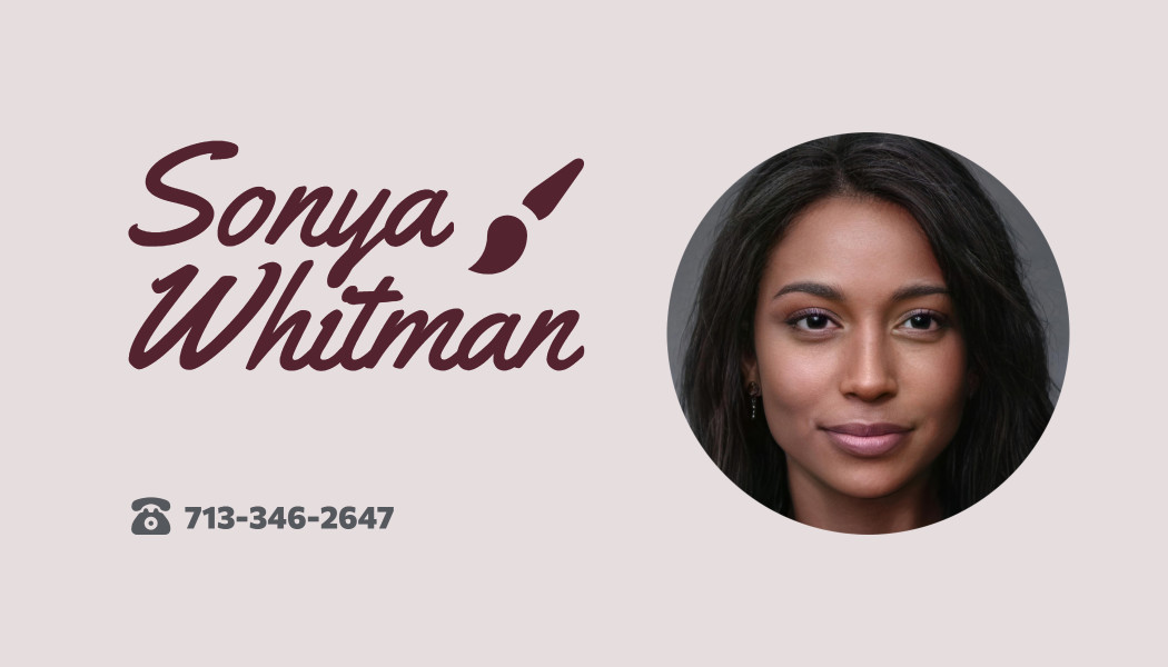 Business Card with  Face & Number