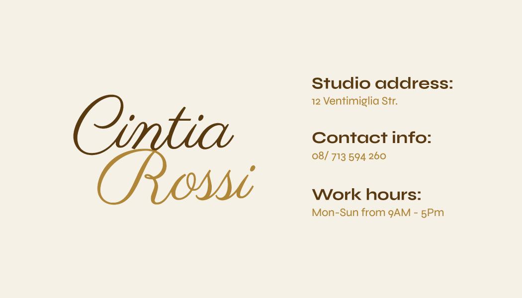 Feminine business card template design
