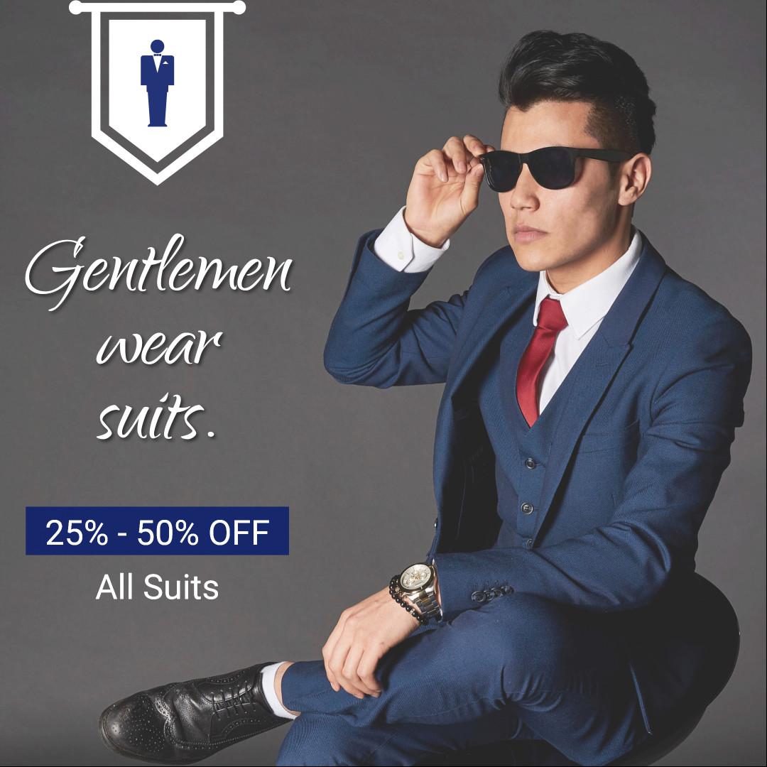 Gentlemen wear suits