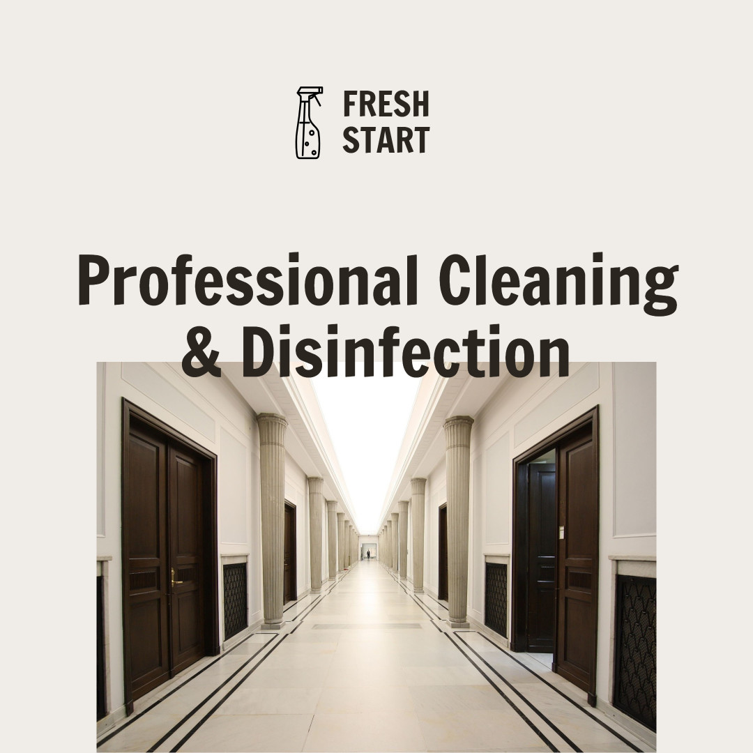 Social media template design for professional cleaning
