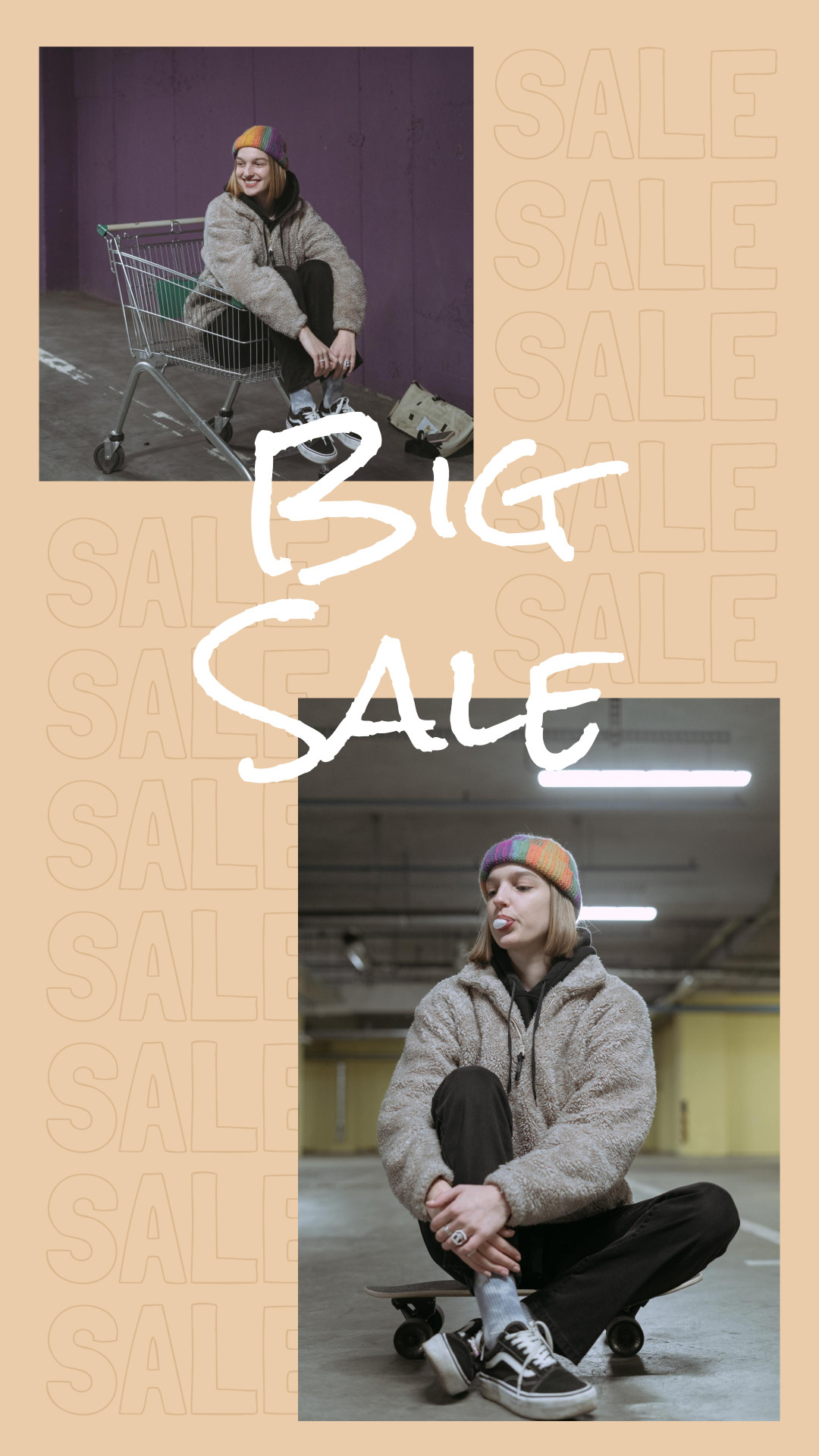 Big sale urban instagram story template