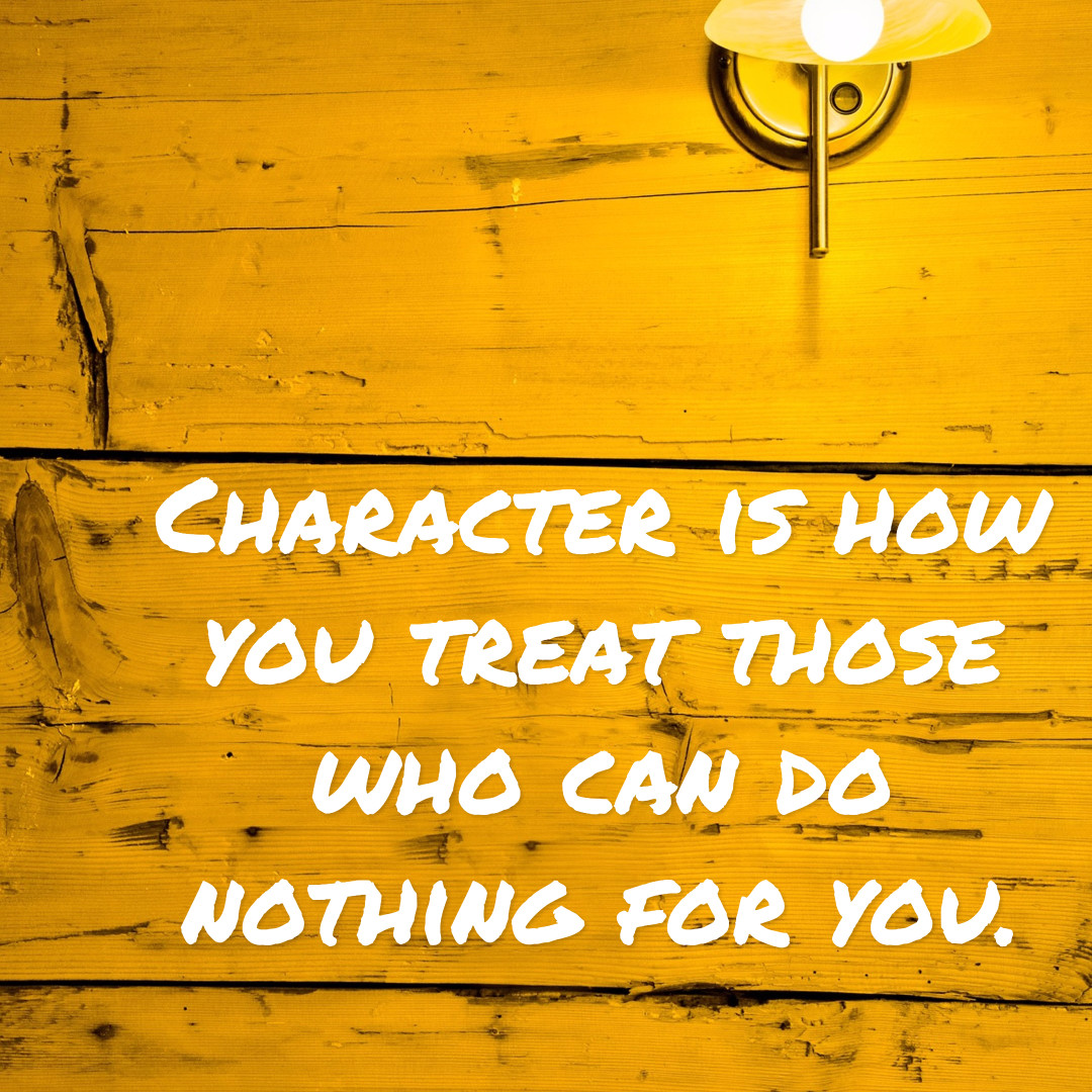 Character - quotes