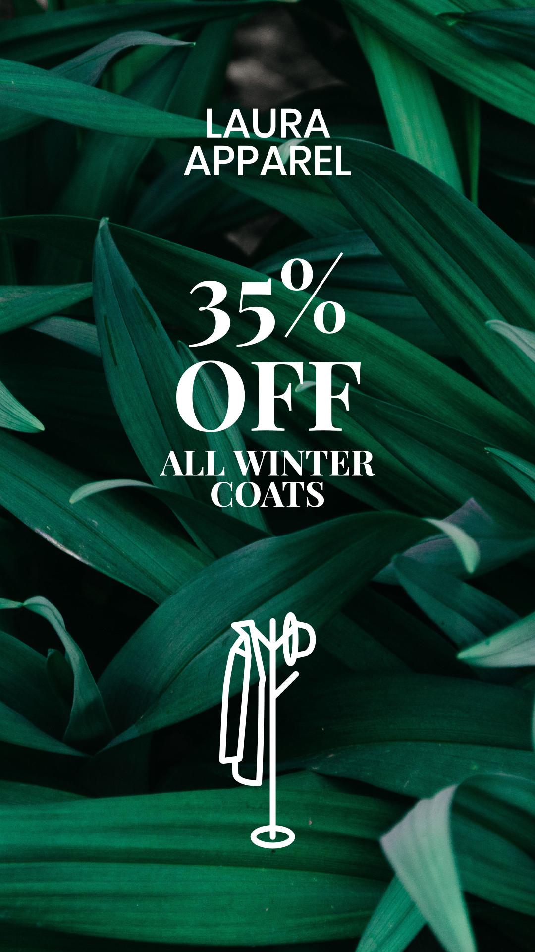 All winter coats 35% off