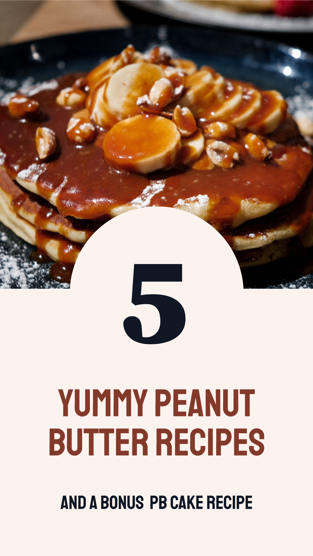 Food blogger template design for peanut butter recipes