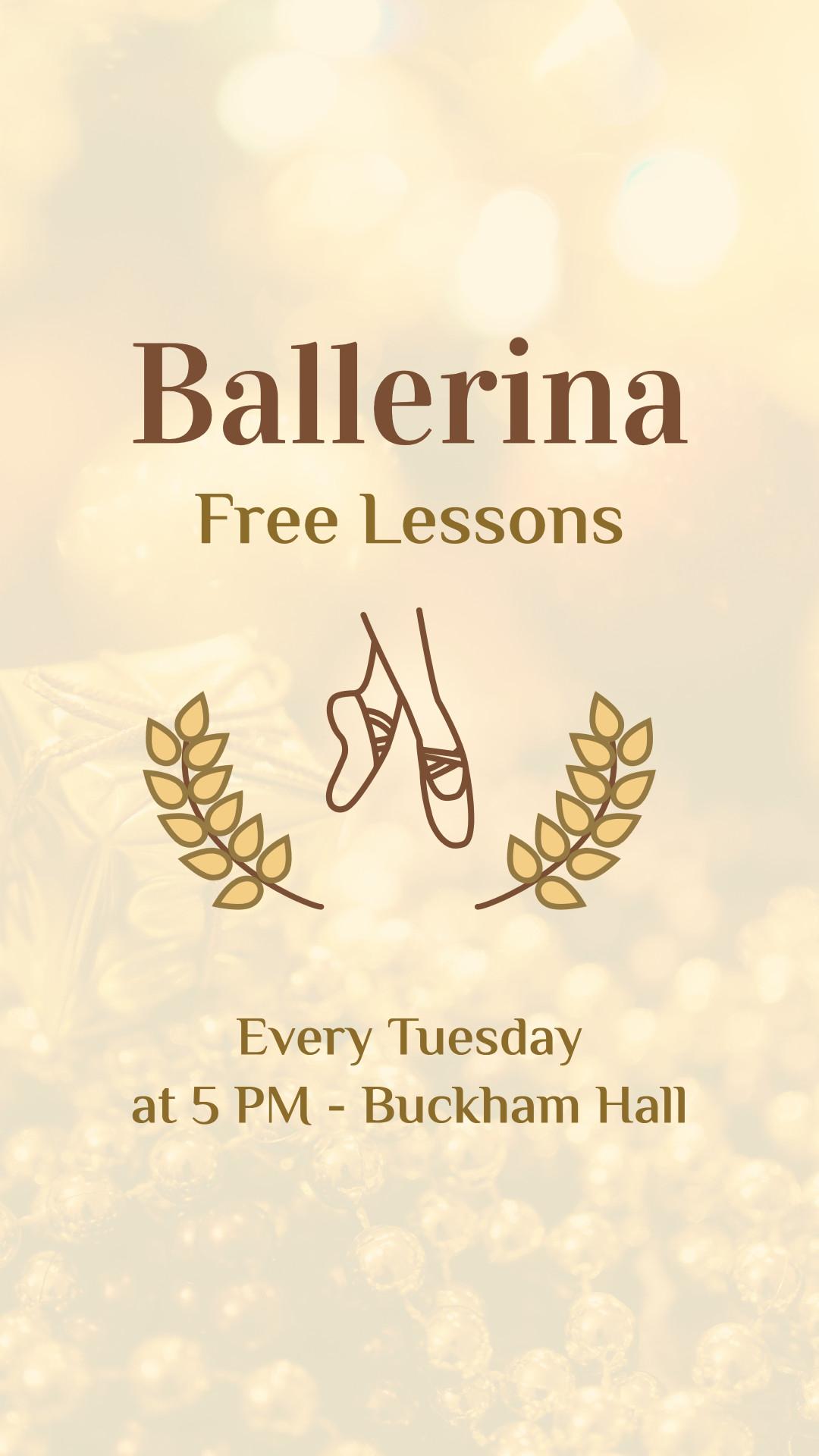 Ballerina free lessons