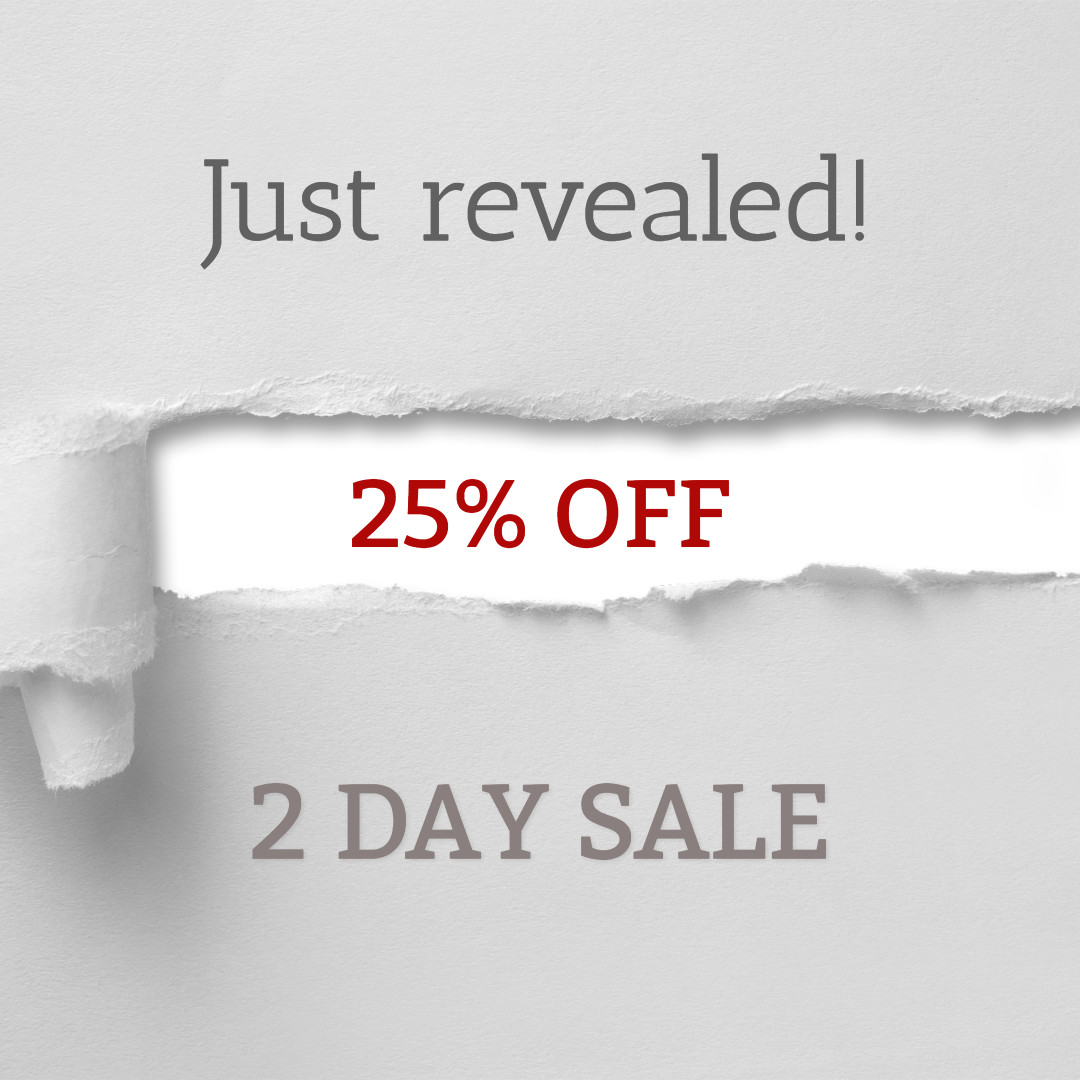 Just revealed - 2 day sale
