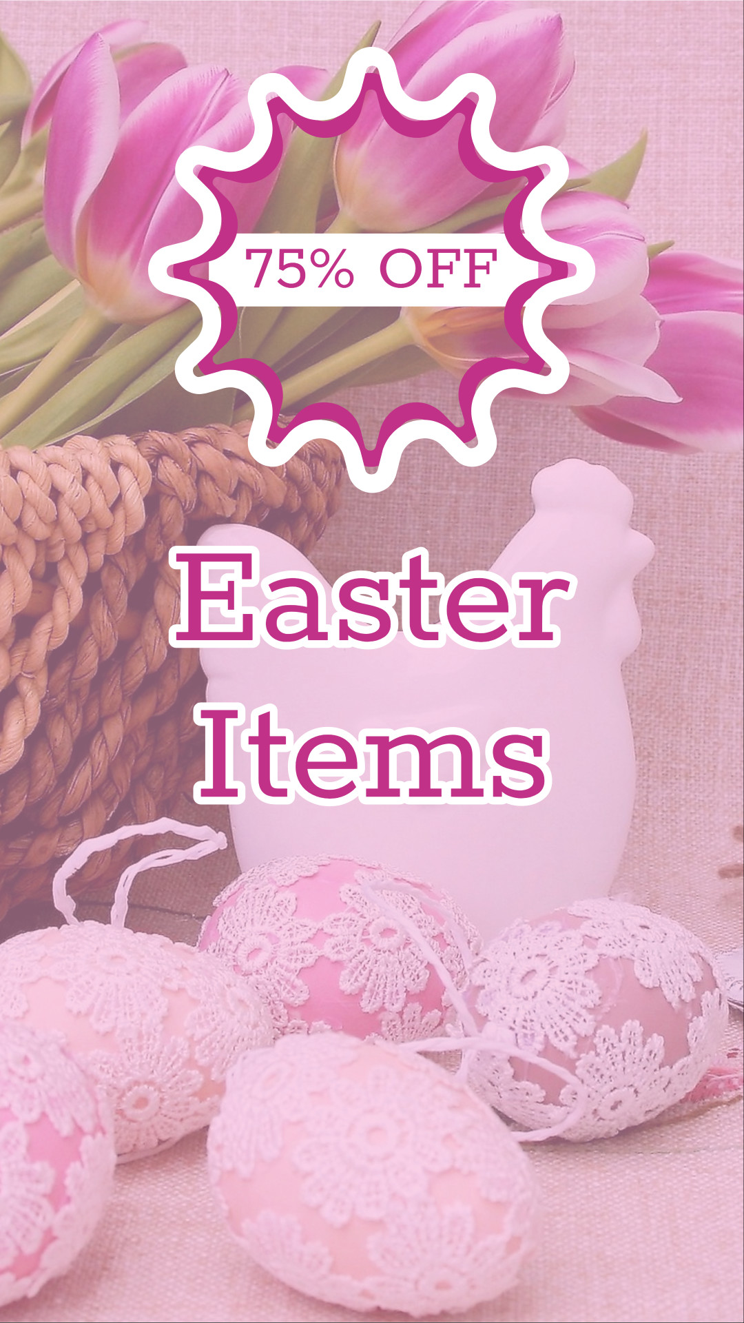 75% off Easter items