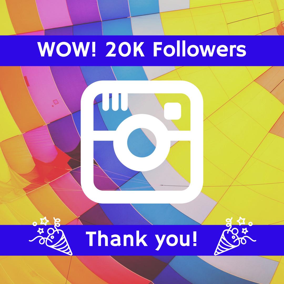 Wow! 20k followers