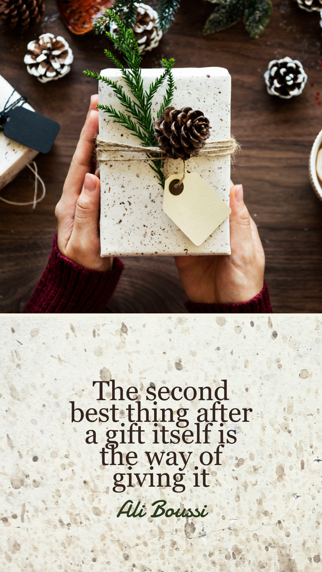 Gift of giving - quote