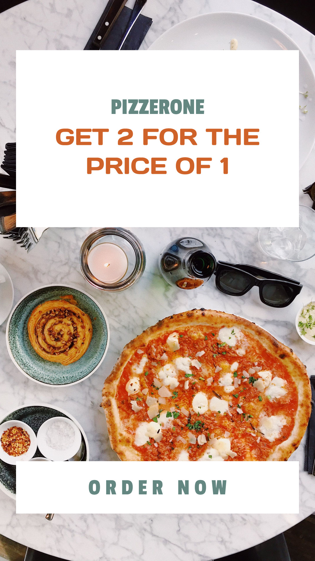 Get 2 Pizzas for the Price of One - Order Now