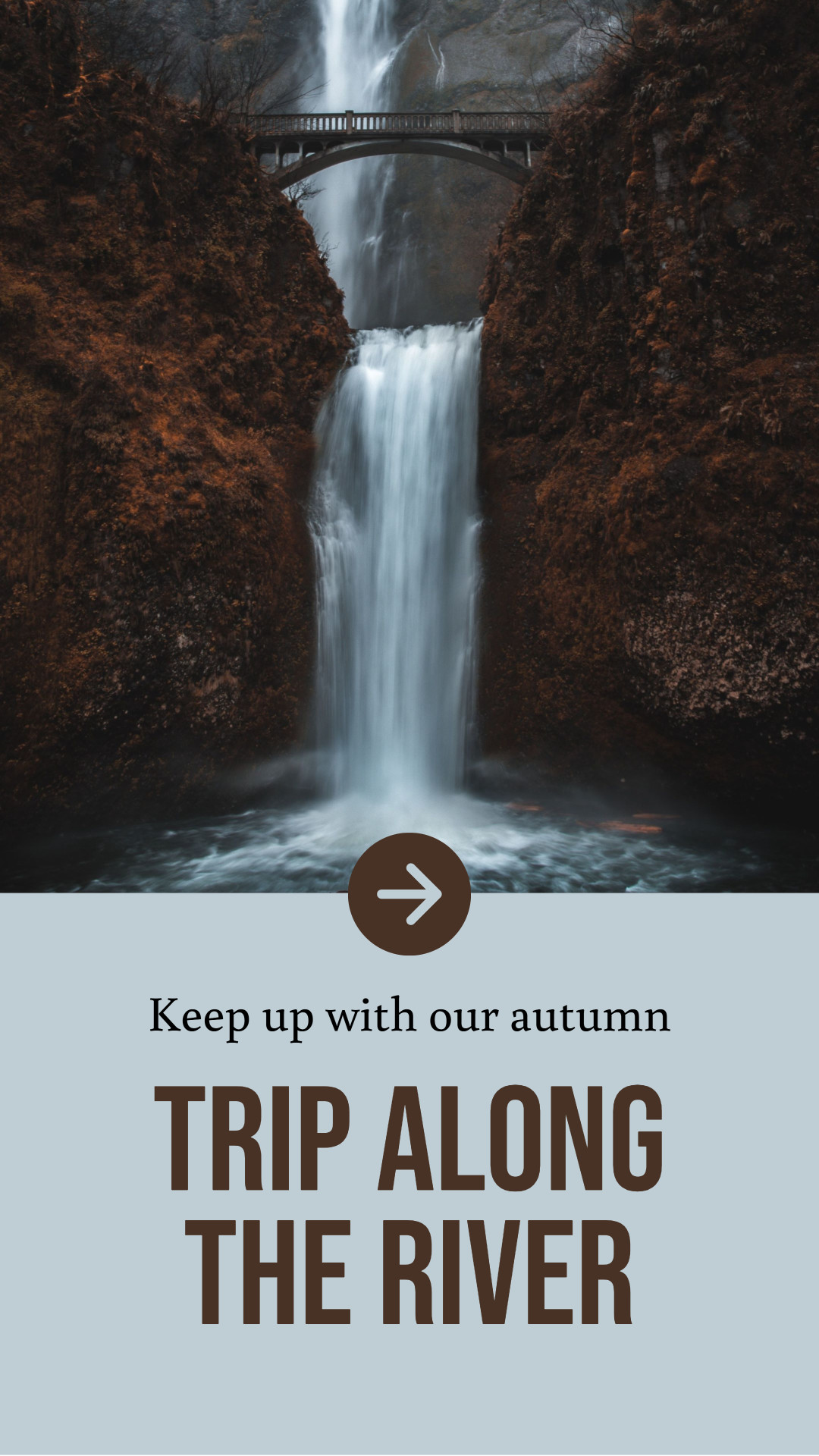 Keep up with out autumn trip along the river