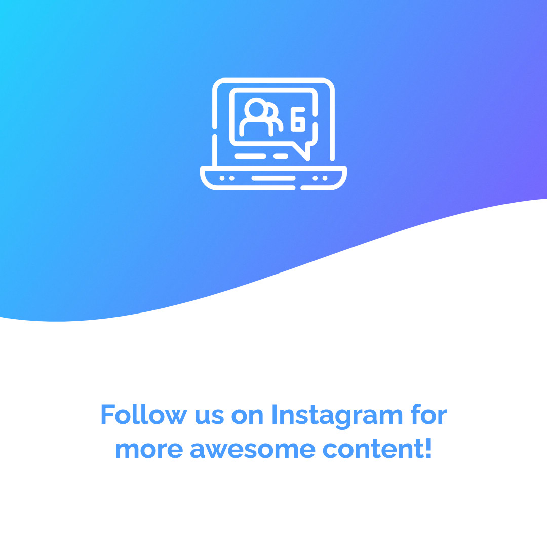 Follow us on Instagram for more awesome content