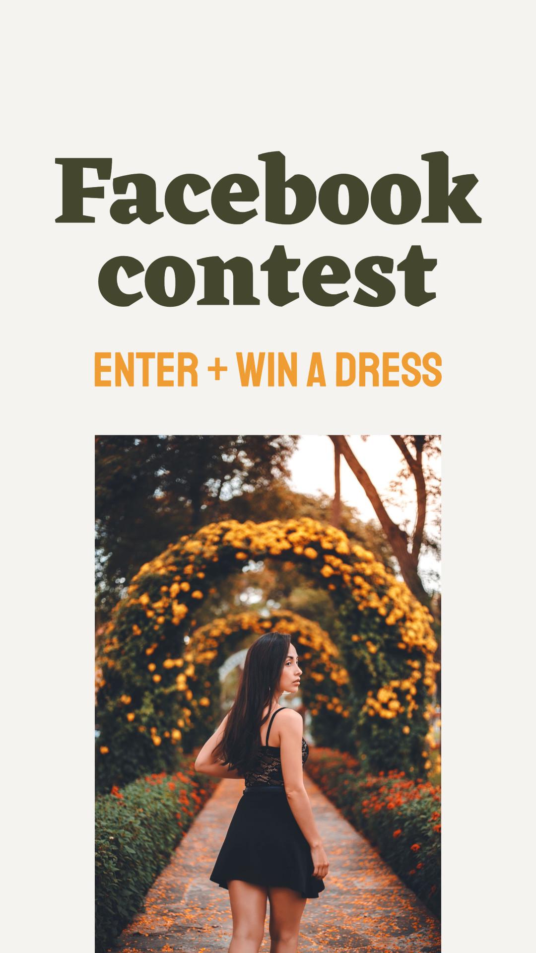 Facebook contest - enter and win - social media template