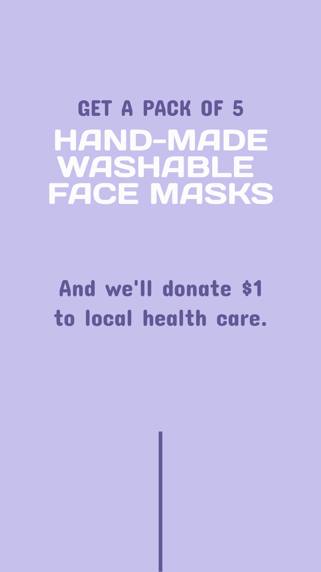 Hand-made washable face masks