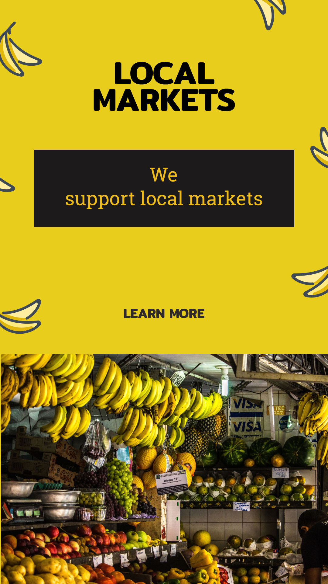 We support local markets
