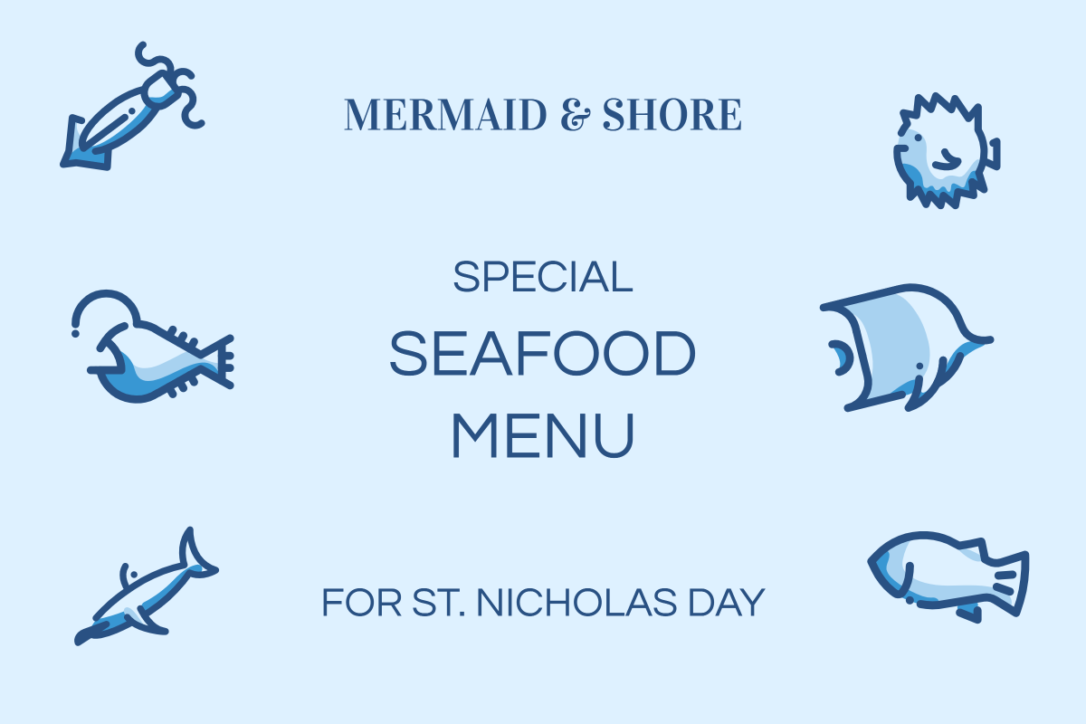 Mermaid & Shore - Special seafood menu