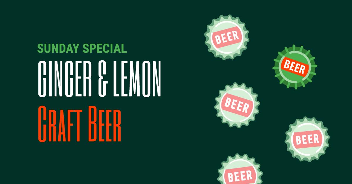 Ginger & lemon craft beer