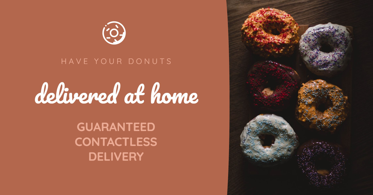 Have your donuts delivered at home