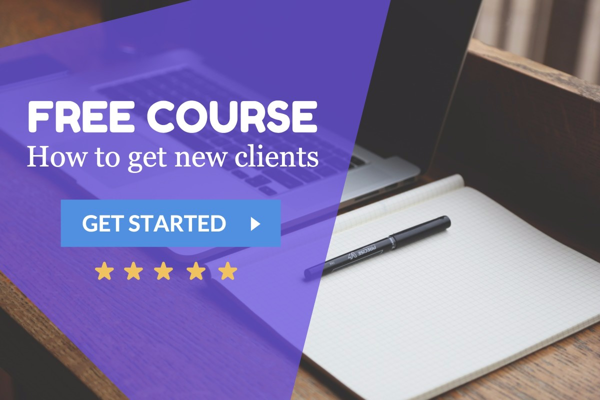 Free course - How to get new clients