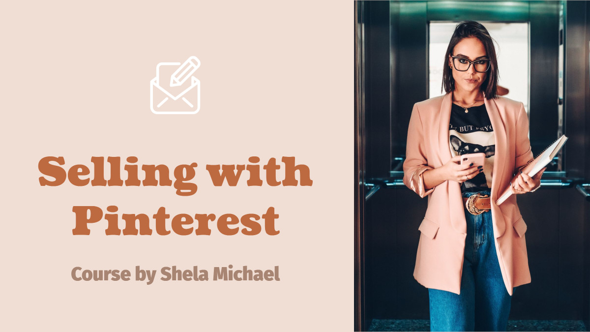 Marketing course template design for selling with Pinterest