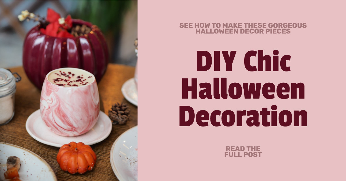 DIY chic Halloween decoration