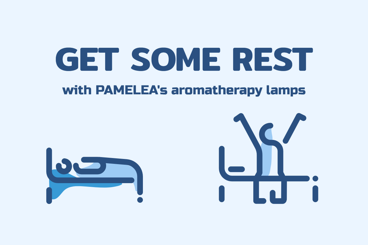 Get some rest with Pamelea's aromatherapy lamps