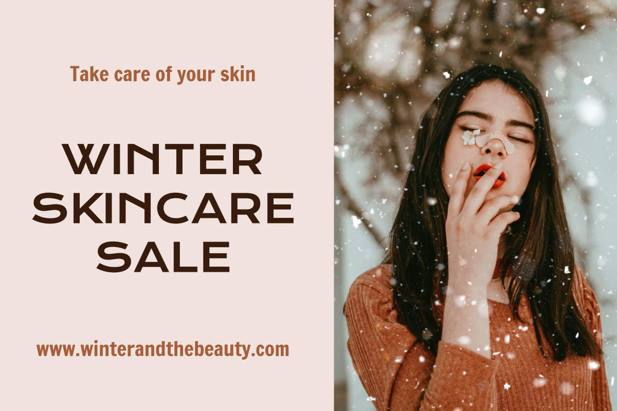 Winter skincare promotional post design