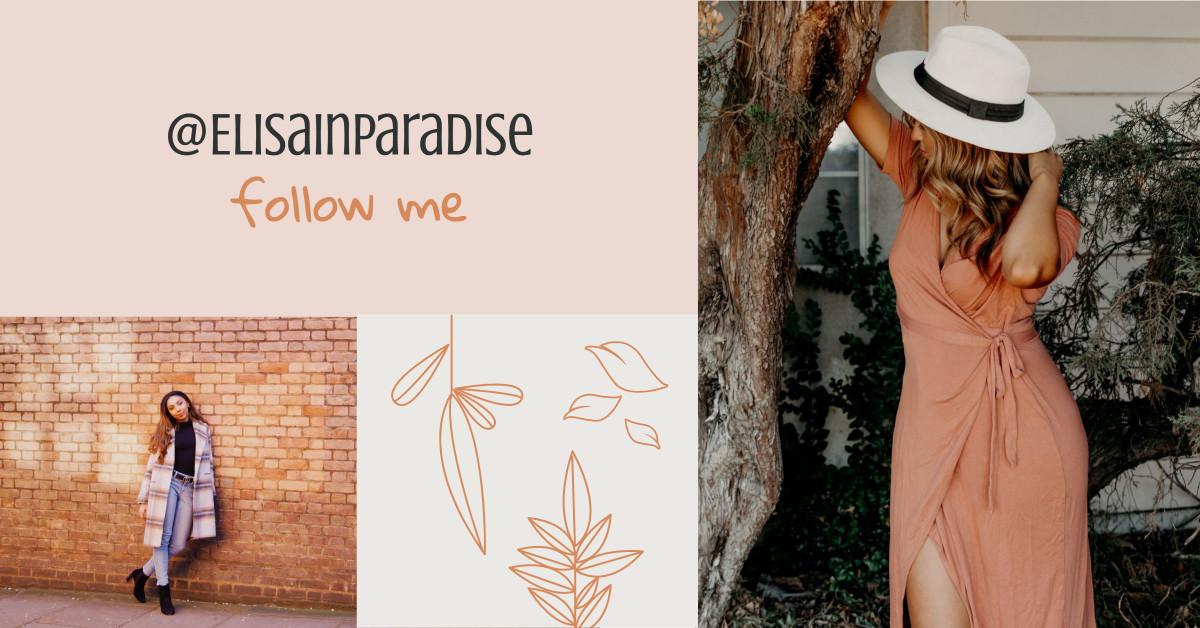 Follow me on social media - template design