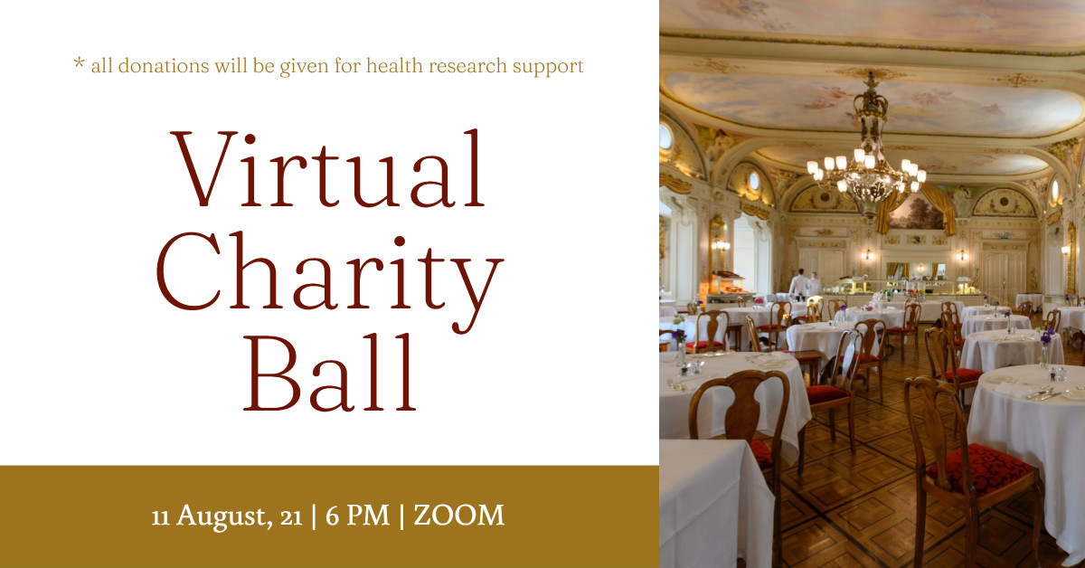 Event post design for a virtual charity ball