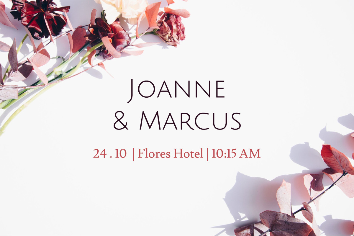 Joanne & Marcus event
