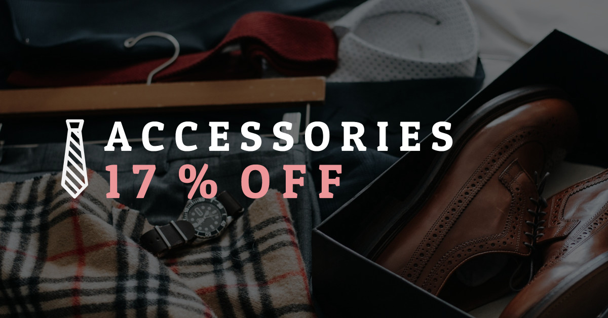 Accessories 17% off