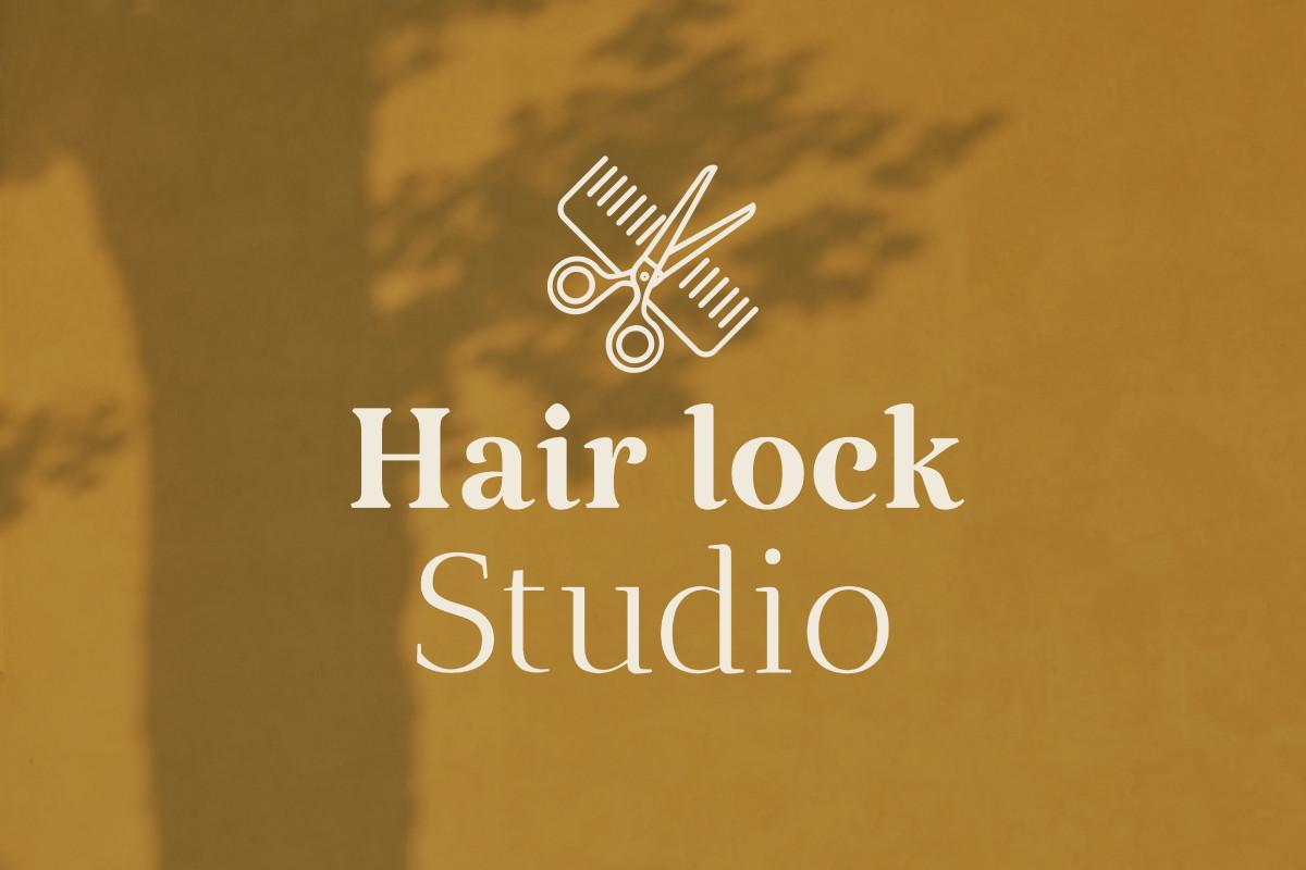 Hair Lock Studio - Logo Design