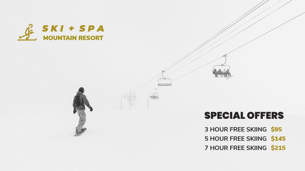 Ski + spa mountain resort