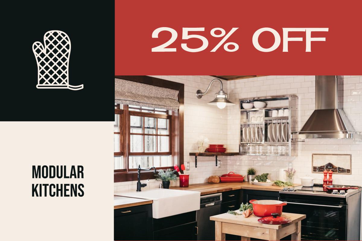 Modular Kitchens 25% off