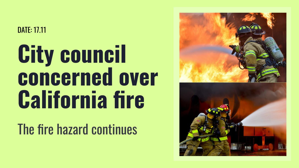 City council concerned over California fire