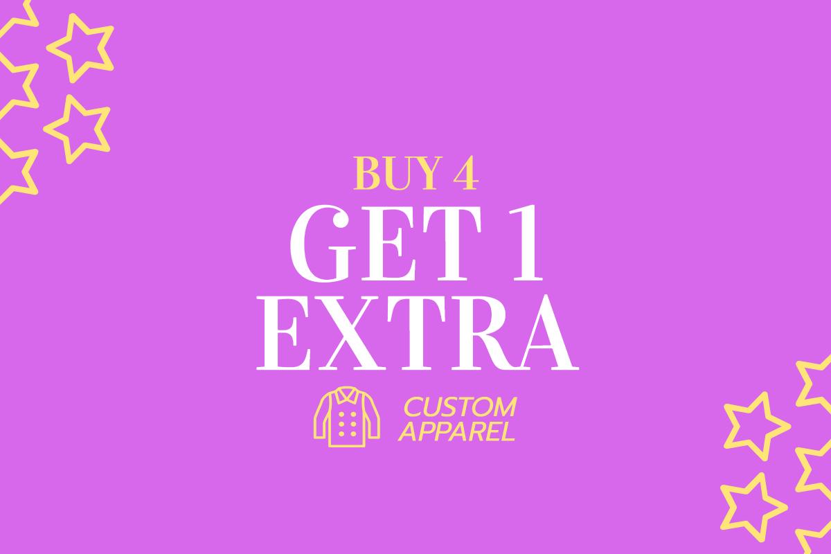 Buy 4 - Get 1 extra