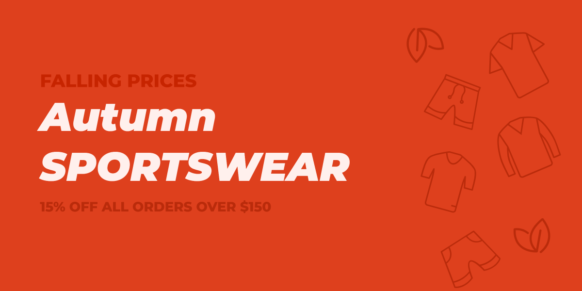 Falling prices Autumn sportswear