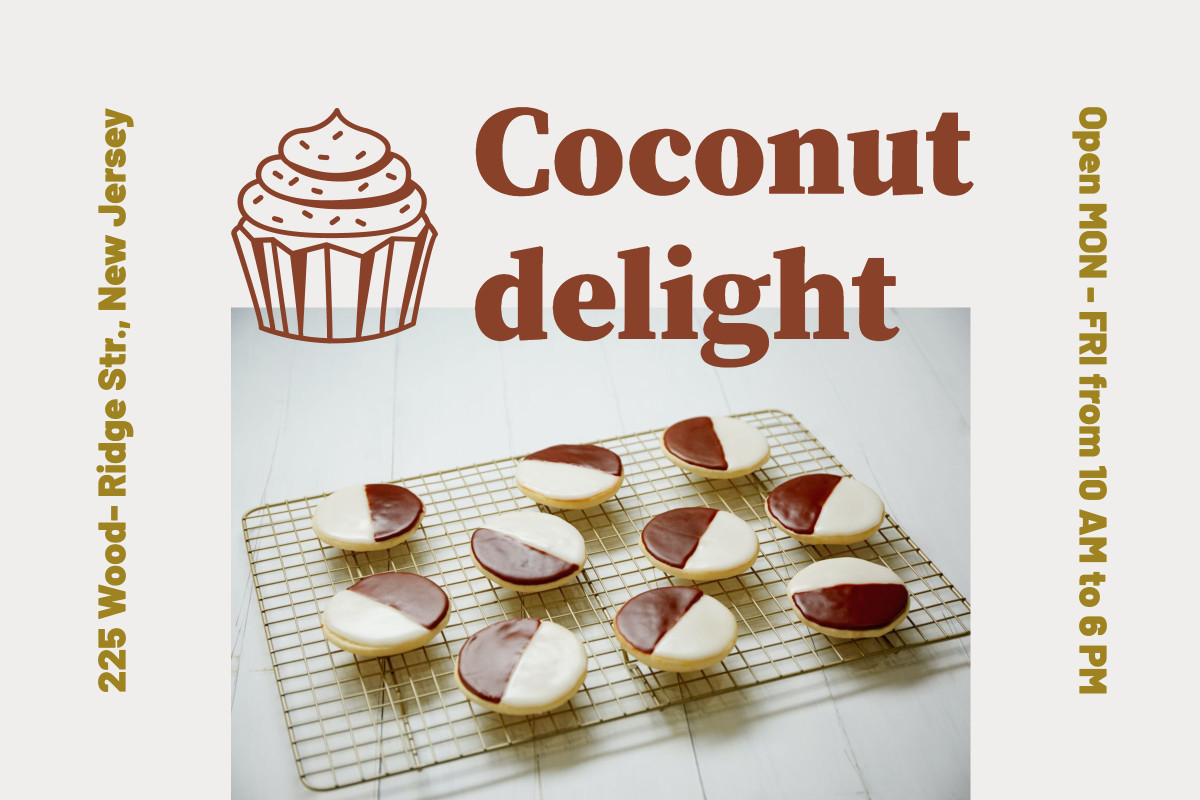 Coconut delight bakery post template design