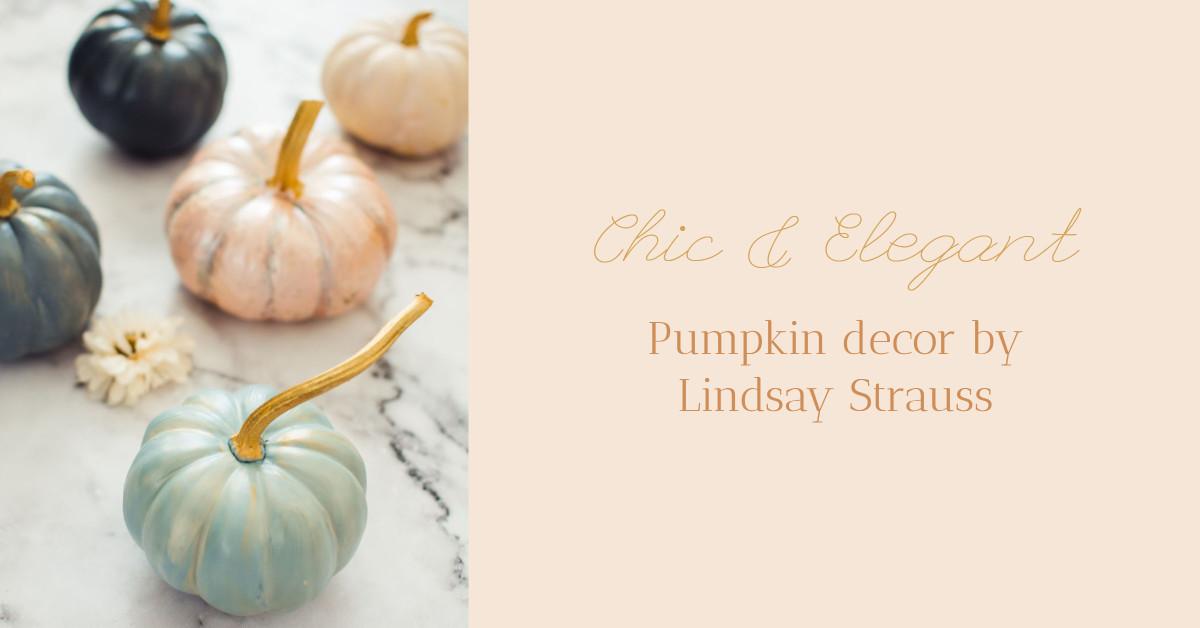 Chic and elegant pumpkin decor