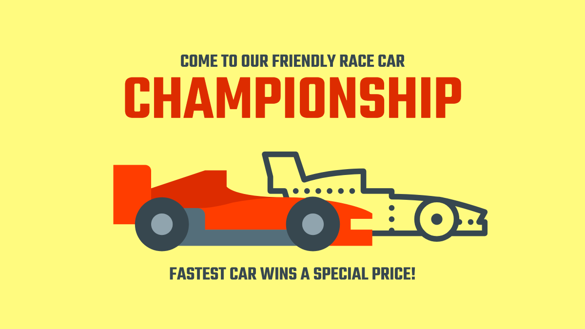 Come to our friendly race car championship