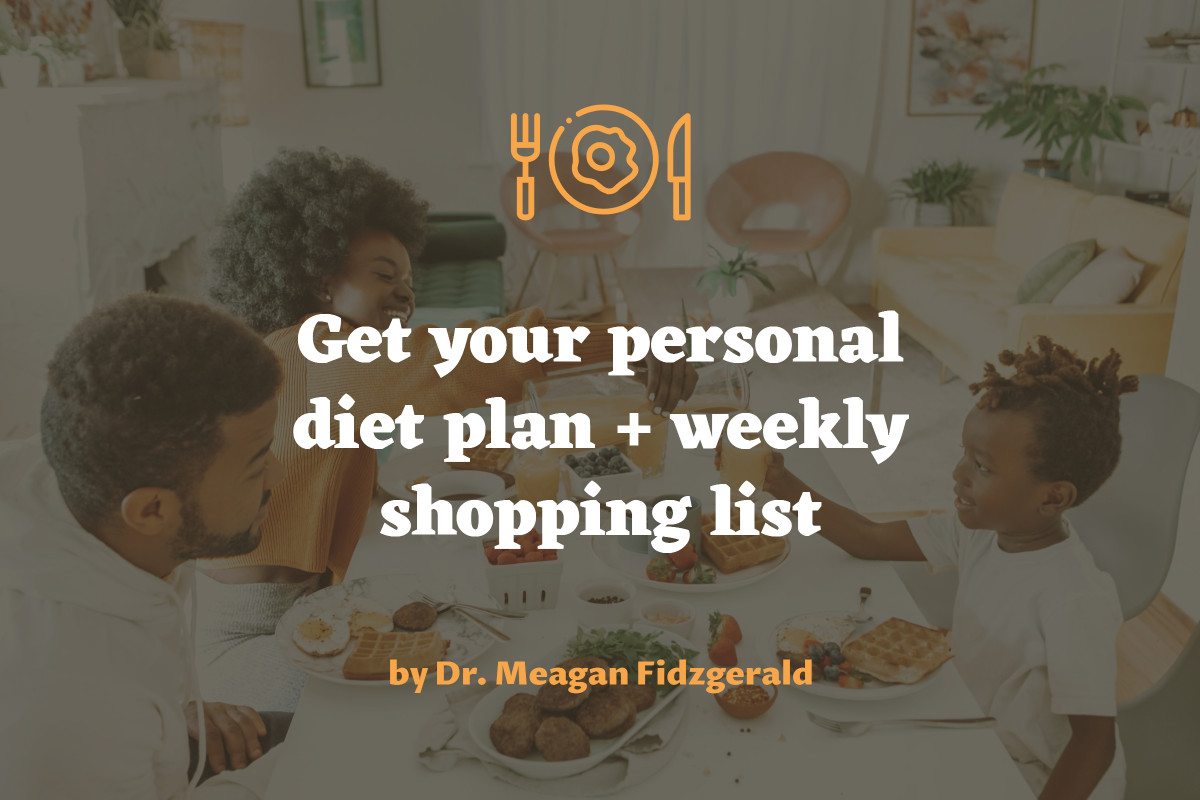 Diet plan and shopping list post template design