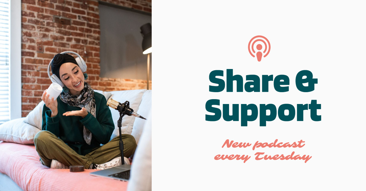 Podcast - share and support - social media template