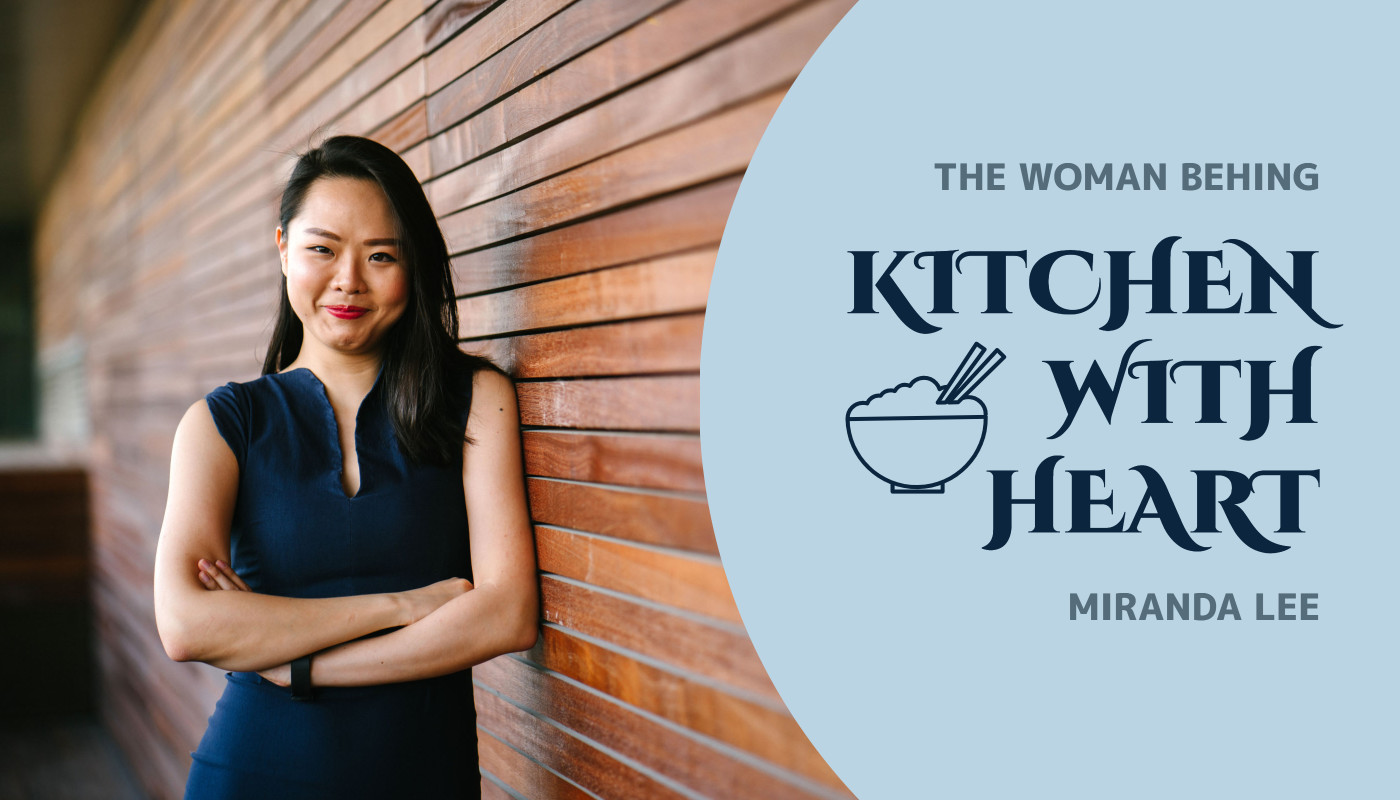 The woman behind Kitchen with heart