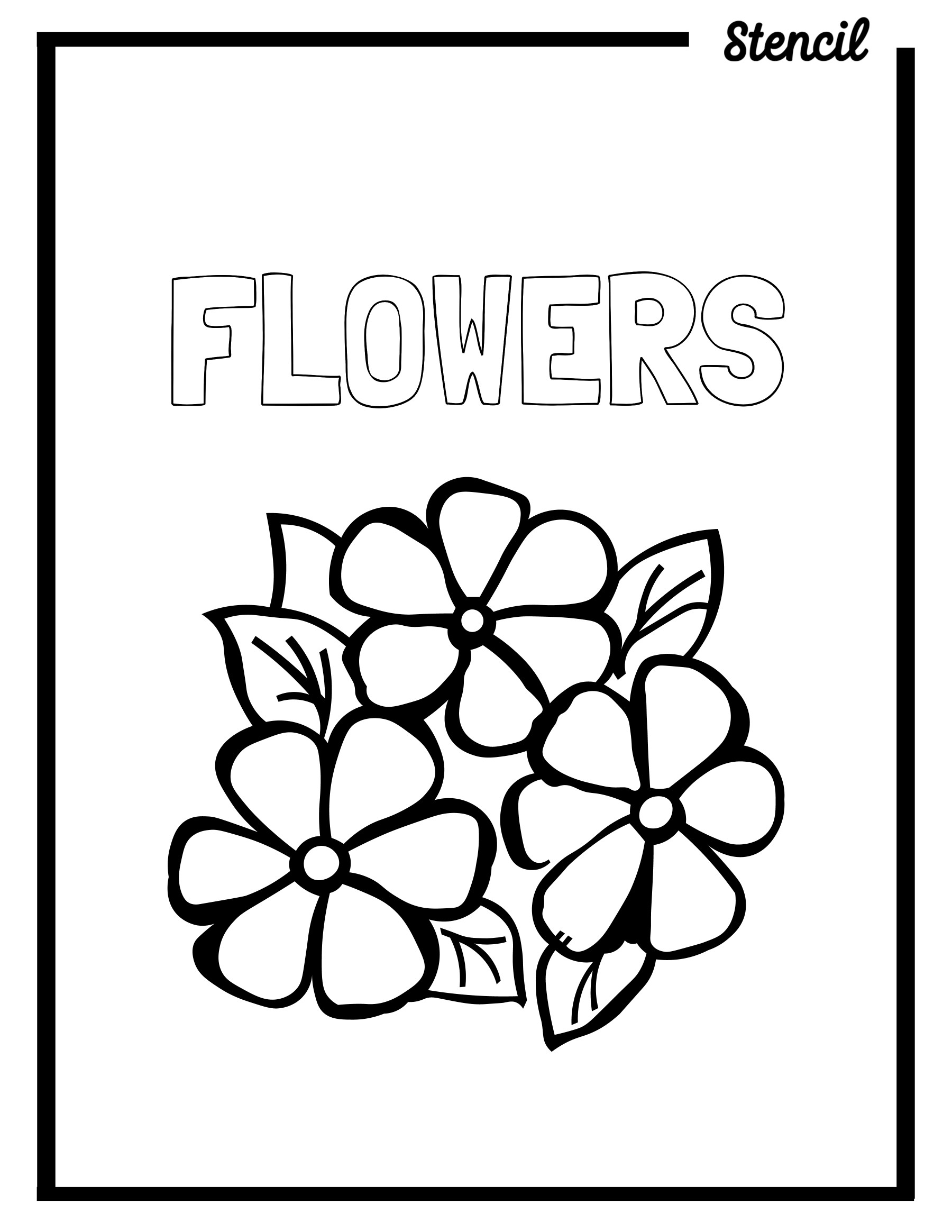 Flowers Outline