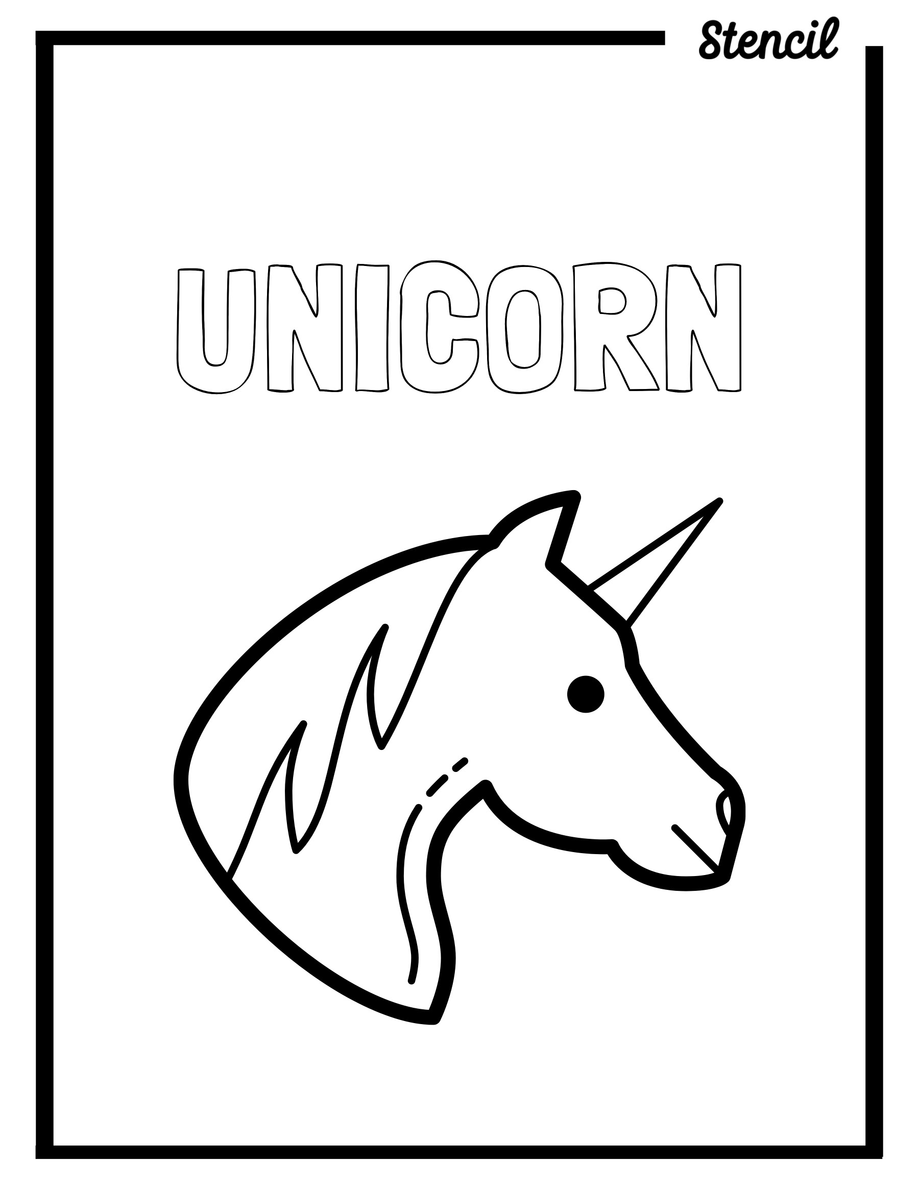 Unicorn Outline