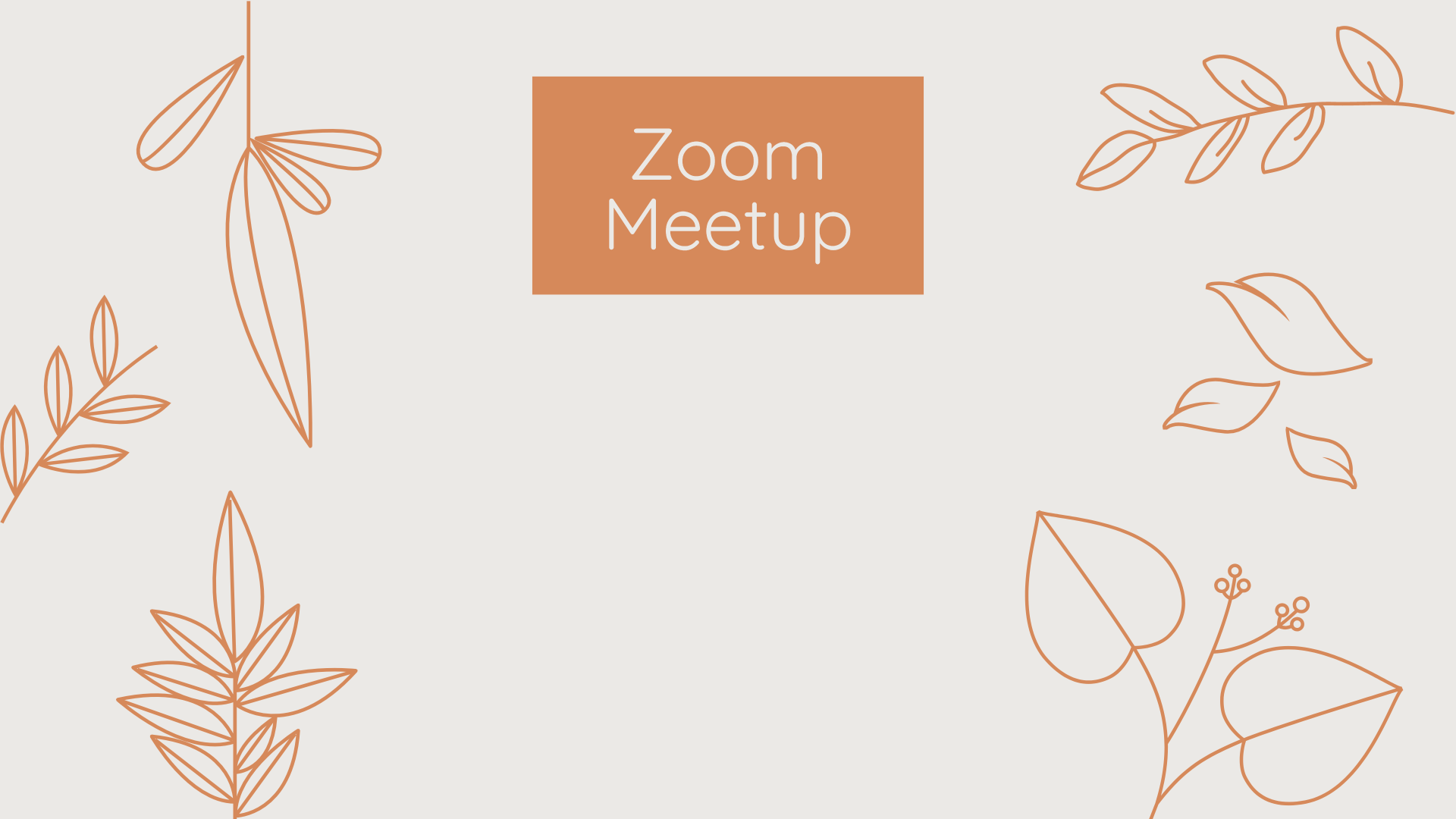 Zoom Meeting Background Template