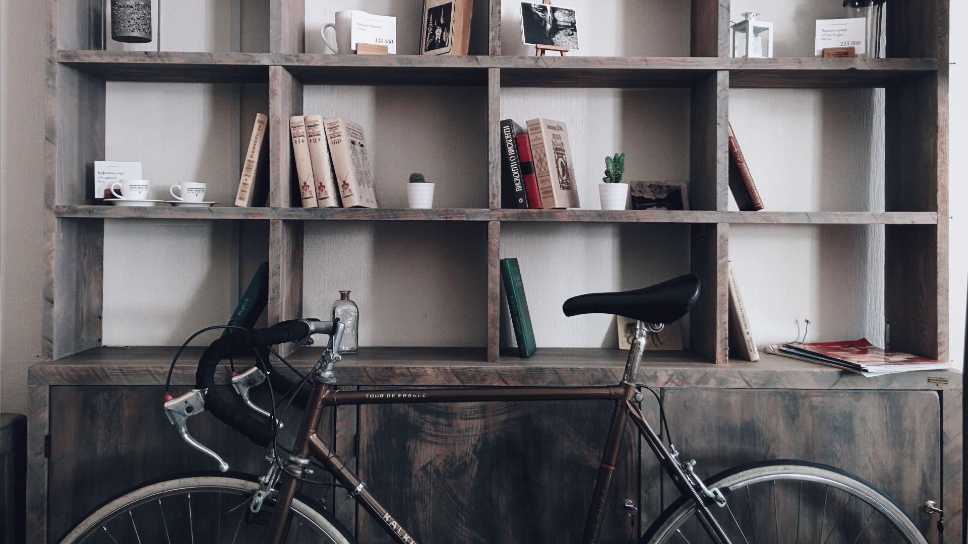 Bike Shelf - Zoom Virtual Background